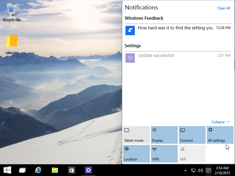 Existing components get a new touch up in Windows 10