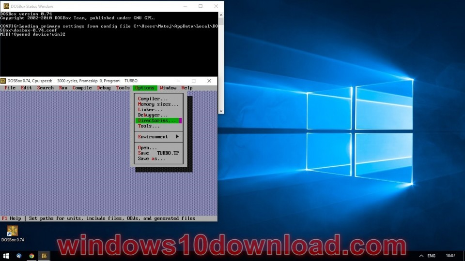 Turbo pascal скачать для windows 10 64 bit